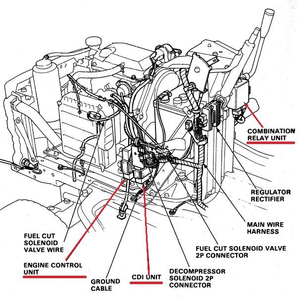 honda 4518 cdi combination relay engine control